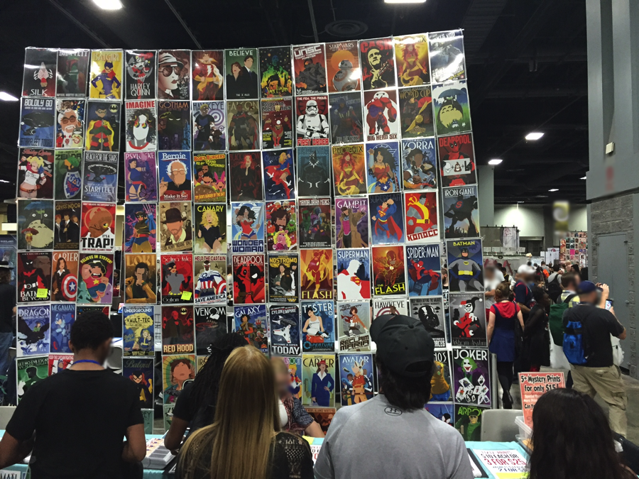 (I doubt this artist/vendor has been granted the appropriate licenses for Flash, Deadpool, Agent Carter… oh and Star Wars.)